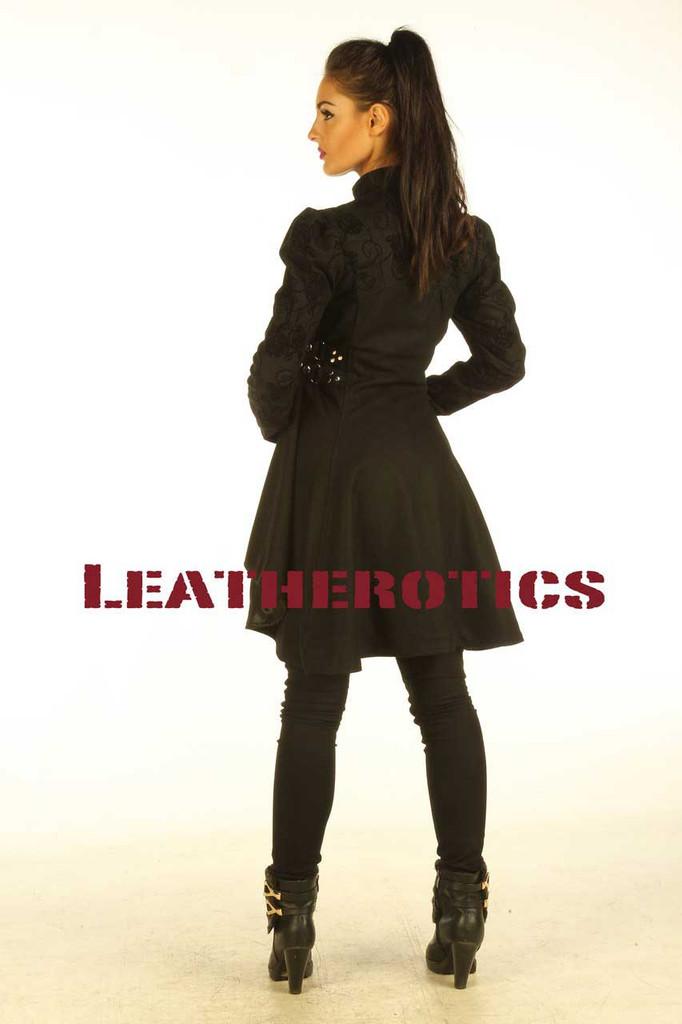 Black cotton Steampunk Ladies Top cyber Gothic Jacket ST6