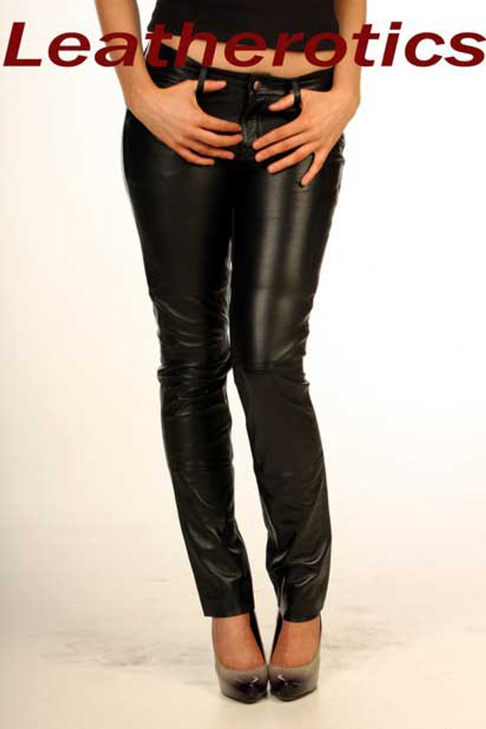 Best Leather Jeans Super Tight Skinny Fit Ladies Trousers