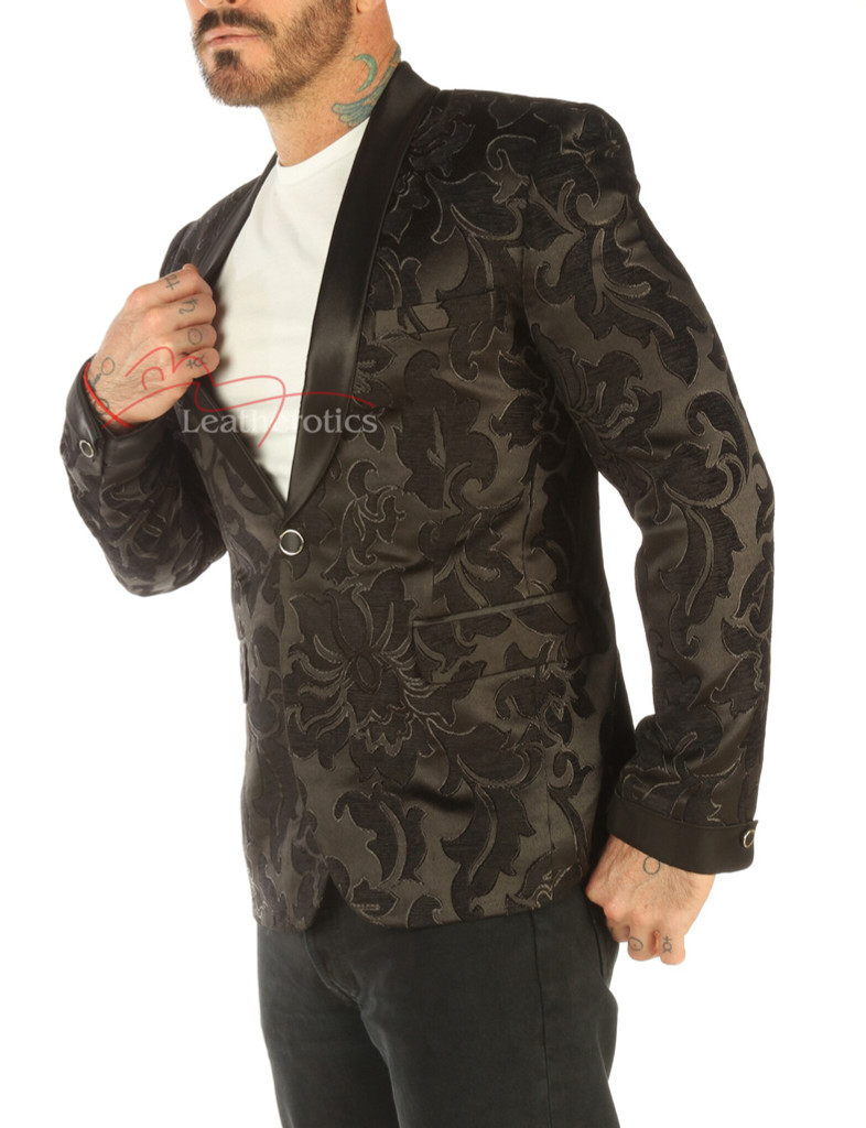 Deluxe Men's Vintage Black Blazer - side