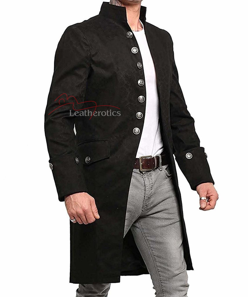 Steampunk gothic vintage mens coat pic 8
