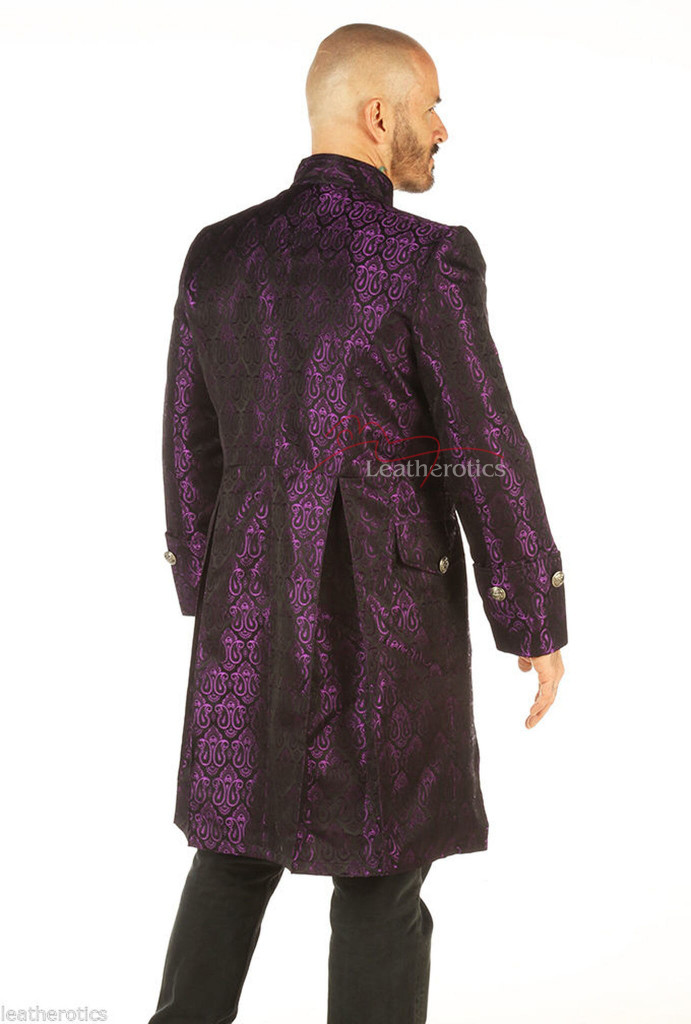 Steampunk gothic vintage mens coat pic 2