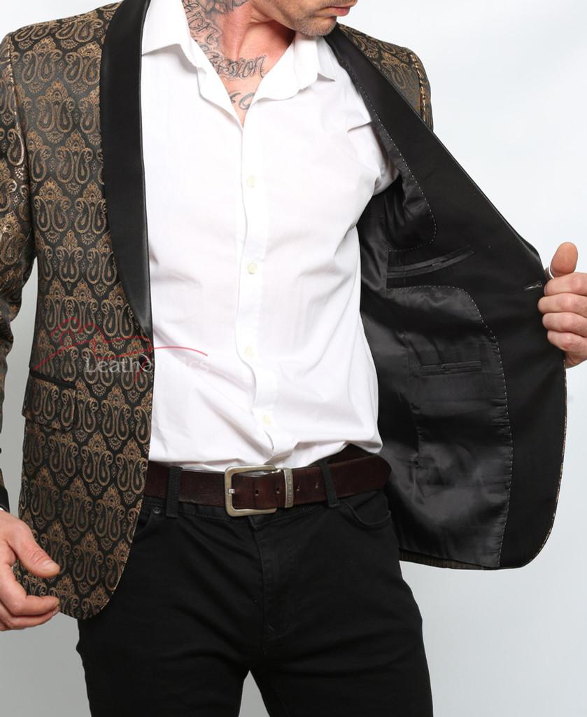 steampunk vintage coat - Gold Blazer
