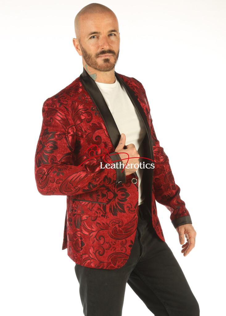 Deluxe Men's Vintage Maroon Blazer