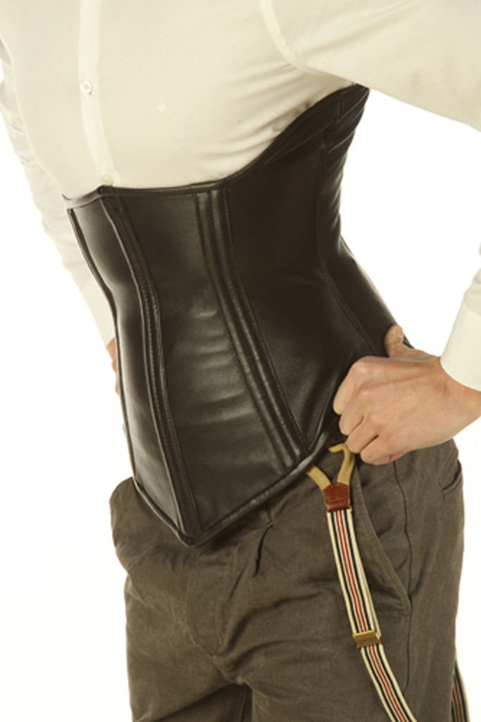 Men's leather corset