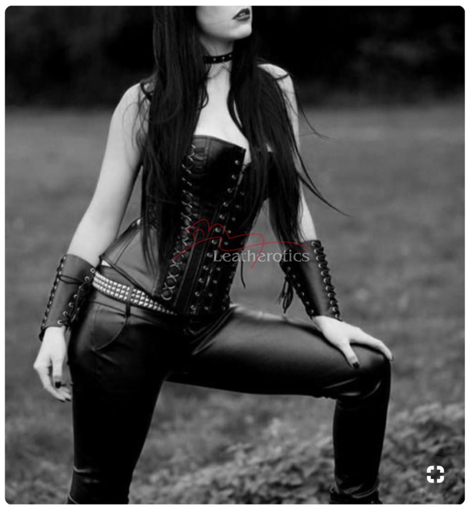 Leather Gothic corset