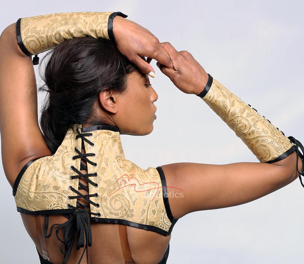 Shoulder neck corset cape gloves set