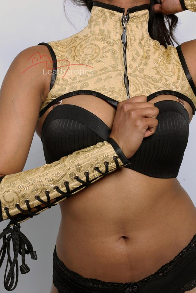 Shoulder corset cape gloves set