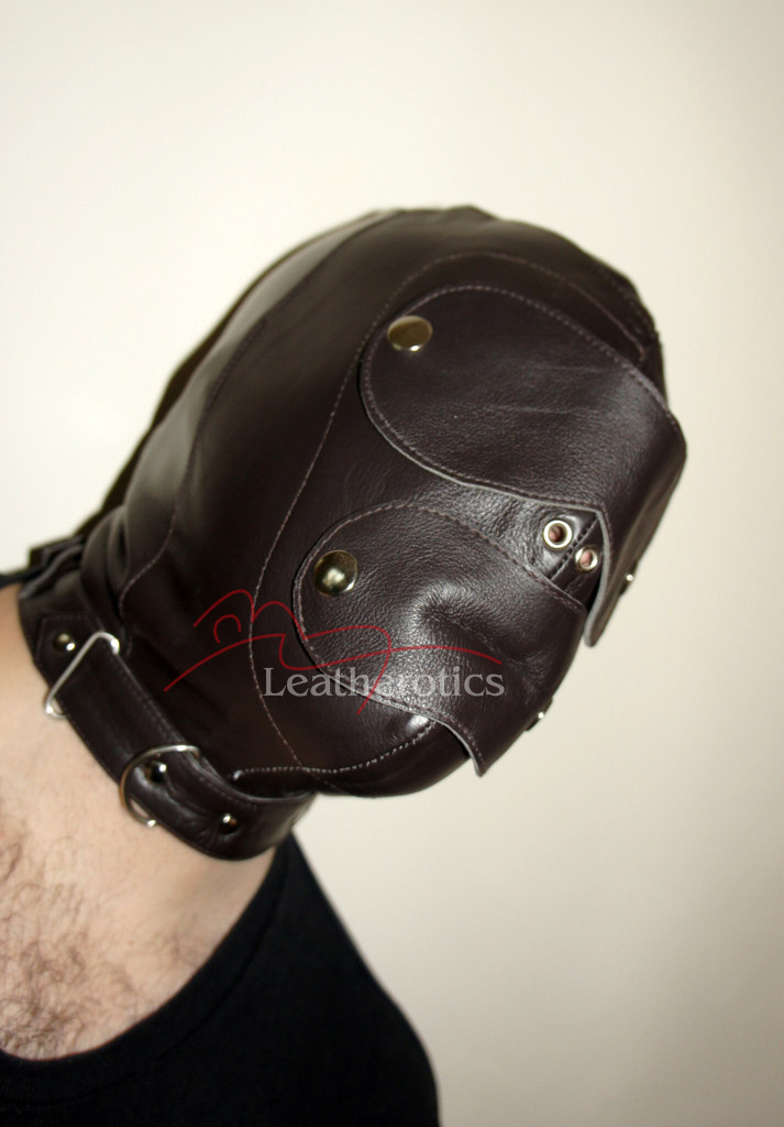 Brown bondage mask