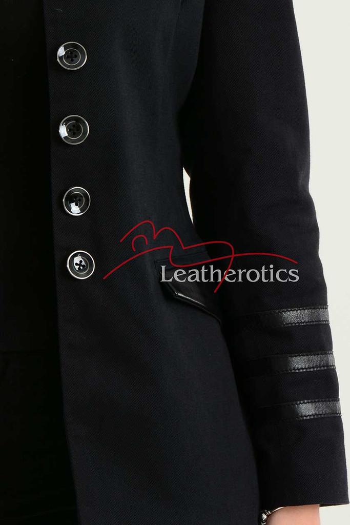Ladies Black Cotton Jacket LBC details