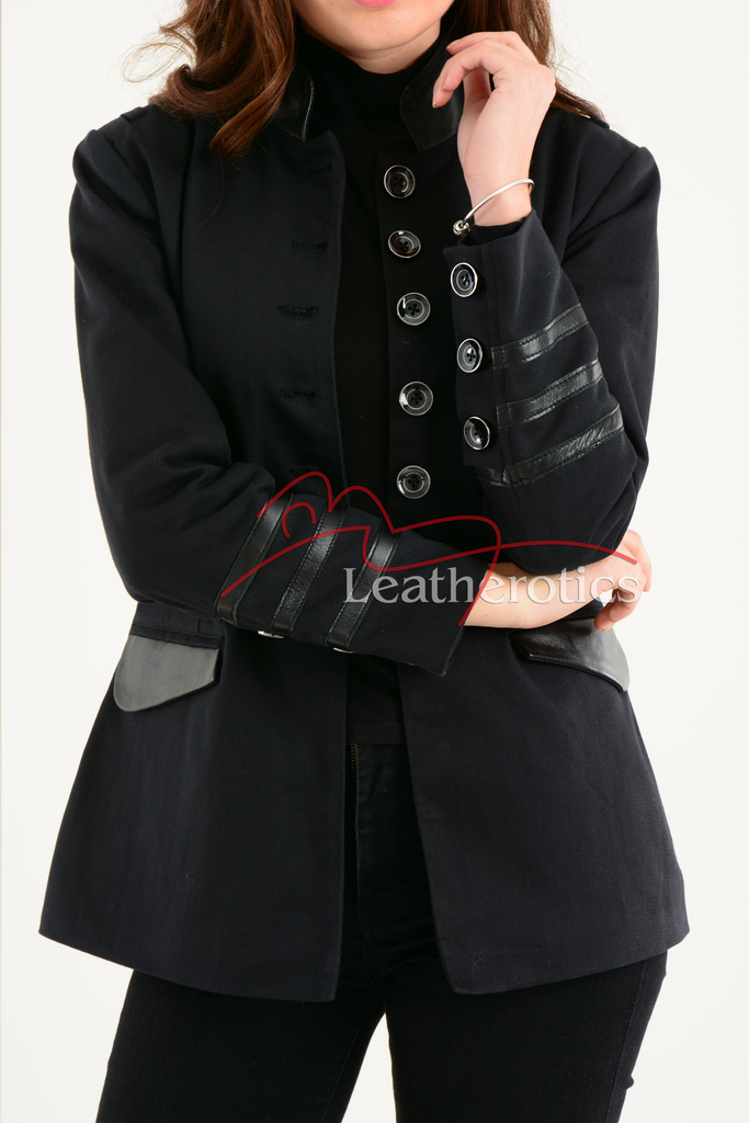 Ladies Black Cotton Jacket LBC 6