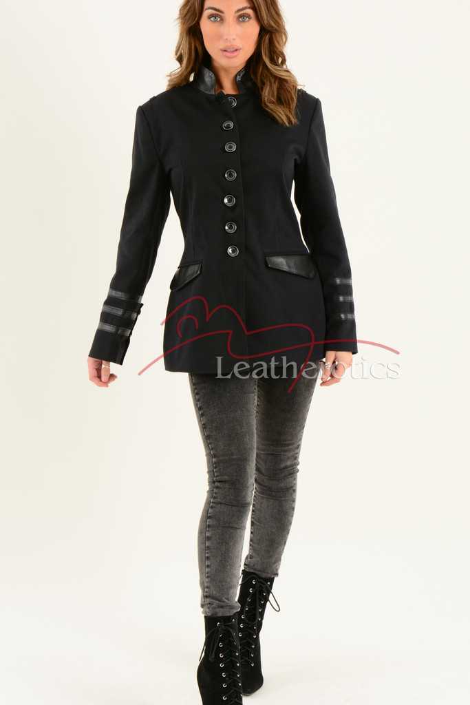 Ladies Black Cotton Jacket LBC 9