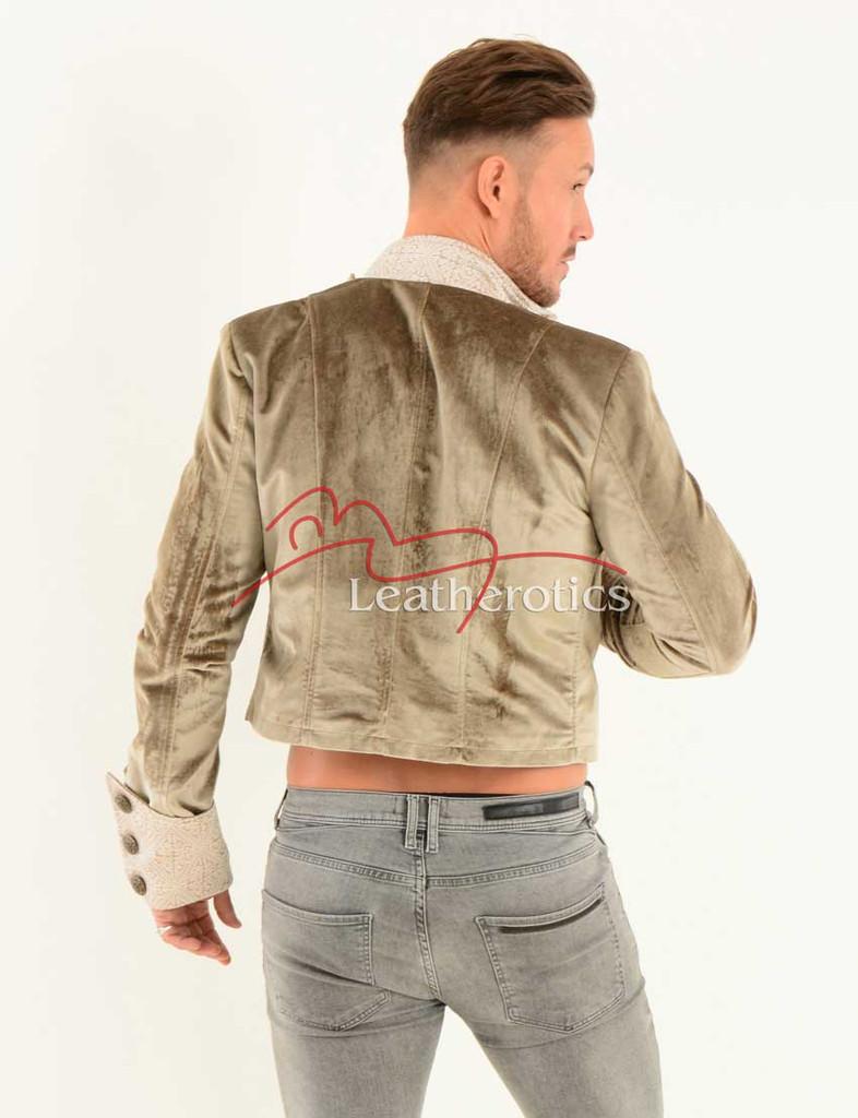European cut short jacket top