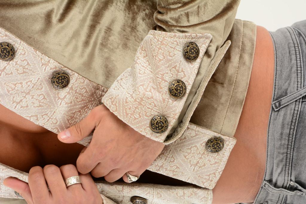 Men's Steampunk Jacket Top high waist cropped Top