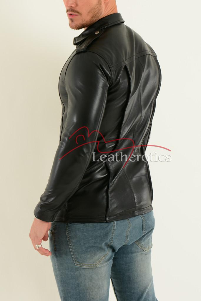 Mens Fine Leather Shirt  4