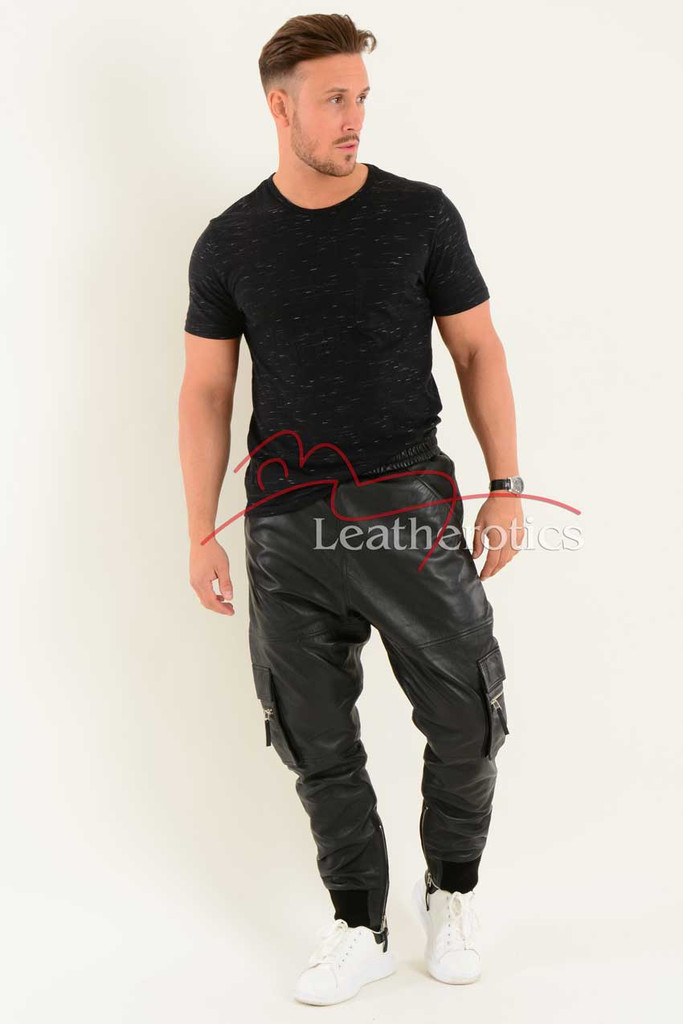 Leather Jogging Bottom joggers 2