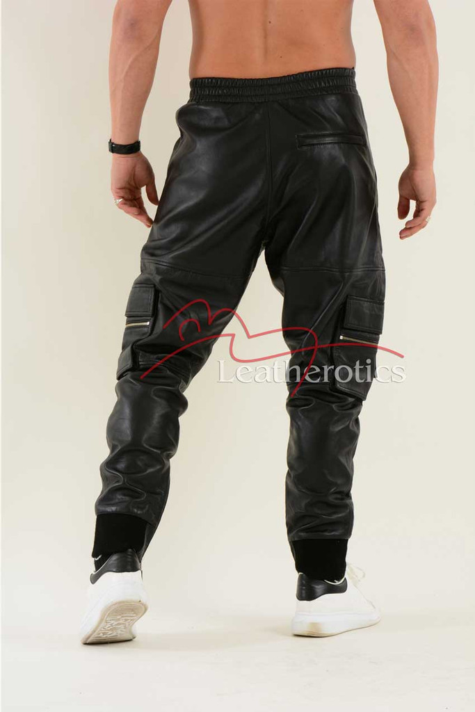 Leather Jogging Bottom joggers 3