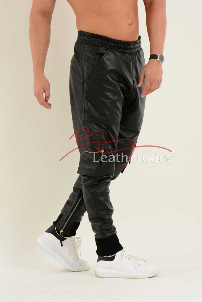Leather Jogging Bottom joggers 4