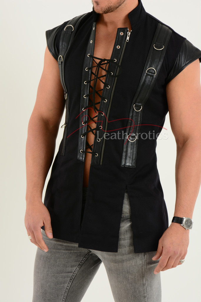 Gothic Gothic Medieval Military Vest - details