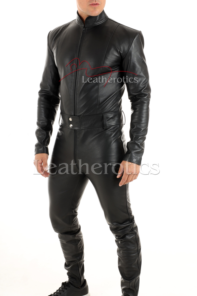 Men's leather catsuit 1