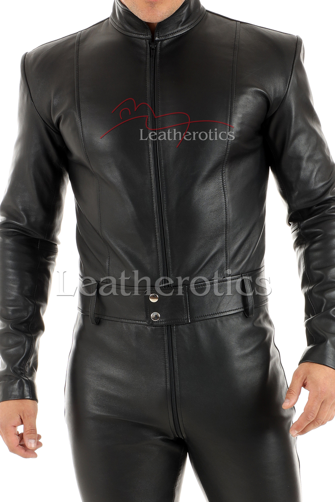 Men's leather catsuit 5 - details