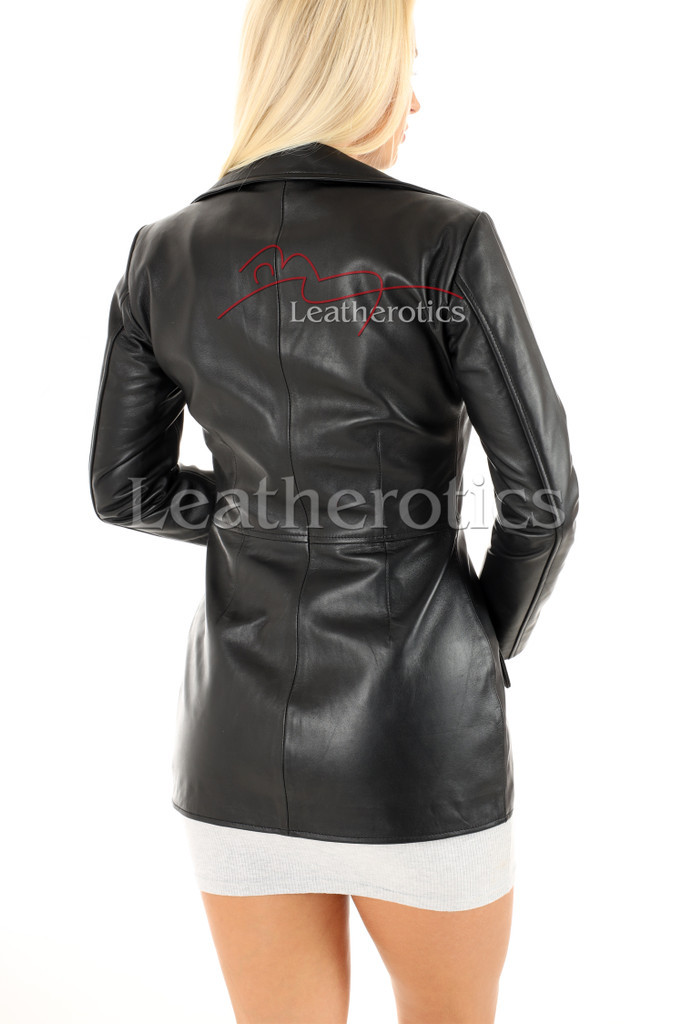 Women's Leather Tunic - back