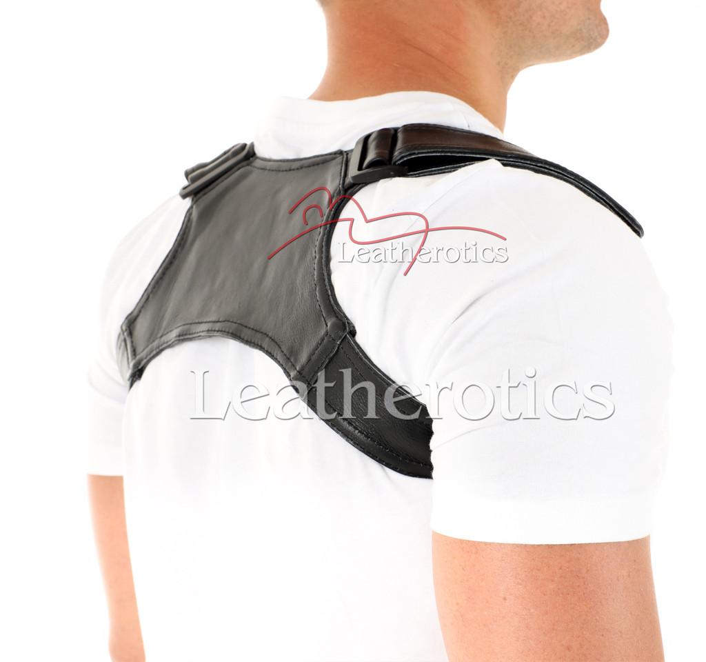 Men's Leather Posture Support - back