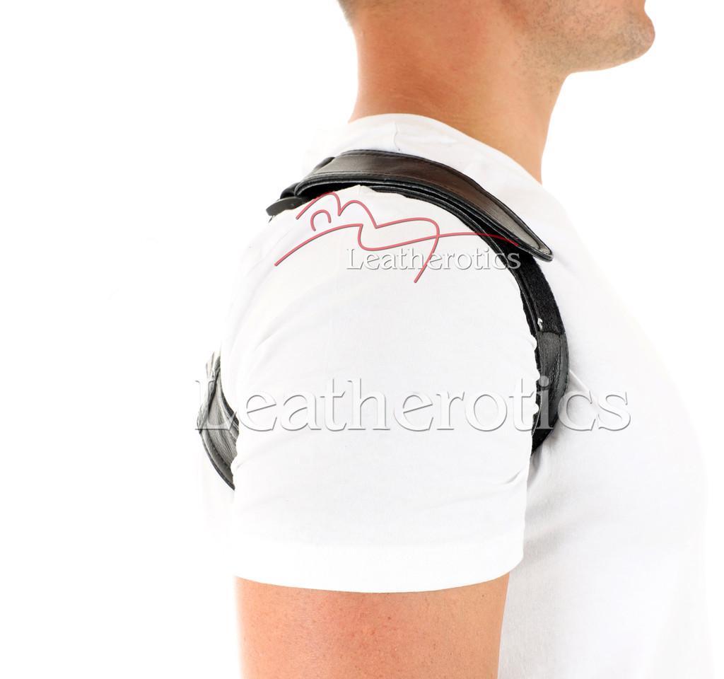 Men's Leather Posture Support - side