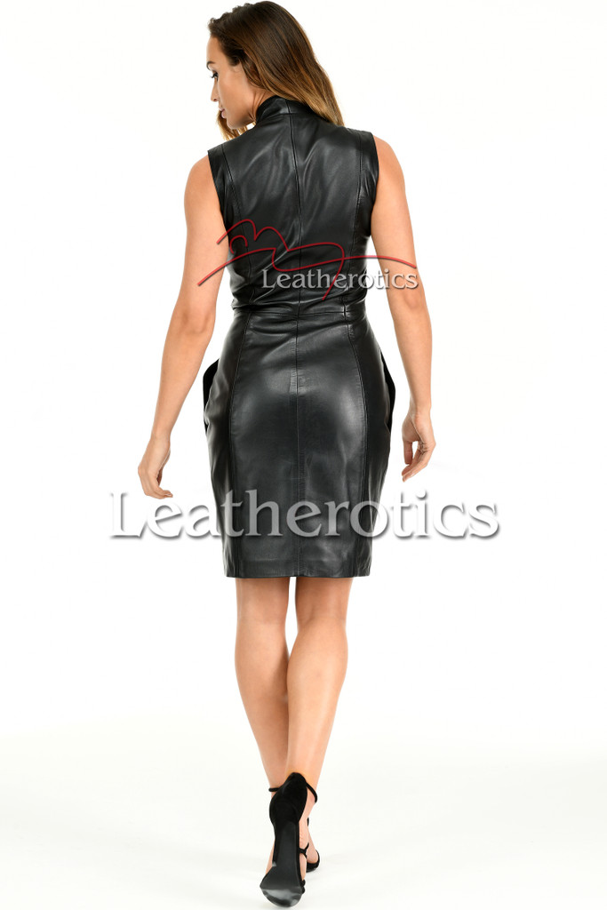 Ladies Leather Dress MD92 - back