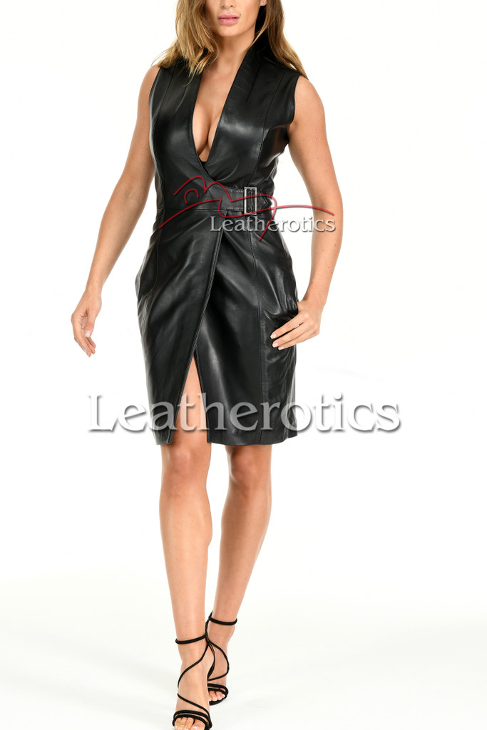Ladies Leather Dress MD92 - front 2