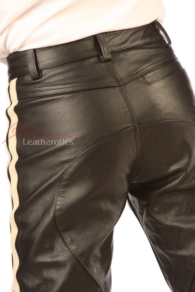 Calfskin Leather Mens Soft Supple Trousers