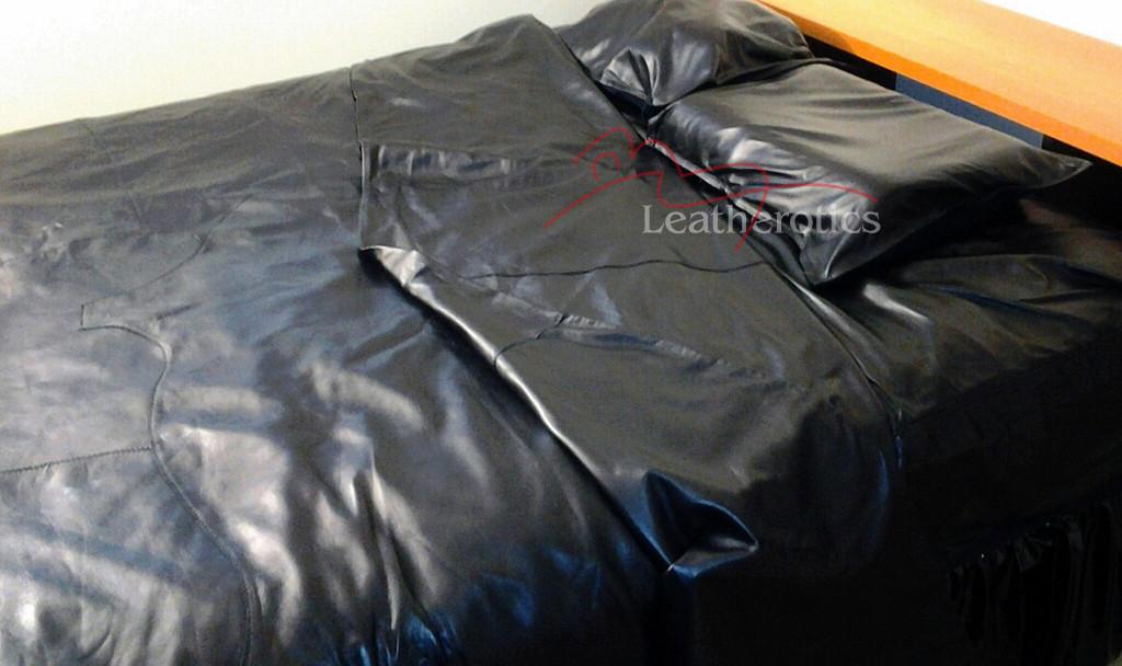 Full Grain Leather Double Bed Duvet Cover