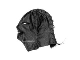 Bdsm Leather masks hoods with zips in black color