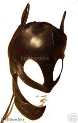 Black Leather cat mask