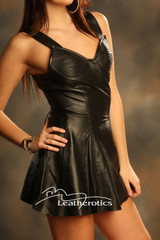Kid Leather Mini Dress Top md61