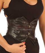 Mini Corset Underbust Leather wide Waist belt