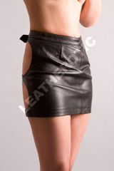 spanking leather skirt