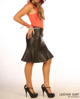 Real Leather tight fit Hobble Style Skirt