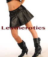 Soft Leather Kilt Skirt