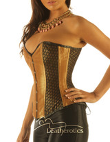 Unique Steel Boned Corset Korsett Copper Colour