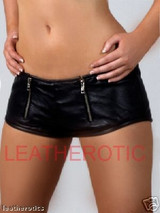 Leather super tight hotpants