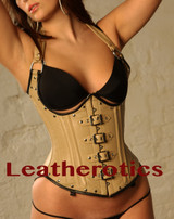 Tan Leather Underbust Gothic Corset Steampunk 1803