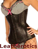 1809 Underbust Real Leather Corset Extreme Tight Lacing