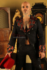 Men's Cotton Tailcoat Wedding Red Steampunk Vintage Coat STPGR front