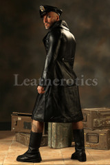 Leather Steampunk Military Coat Men's Jacket Gothic Antique top side look