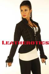 Black Steampunk Goth Victorian Ladies Jacket SP7