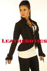 Black Steampunk Goth Victorian Ladies Jacket SP7