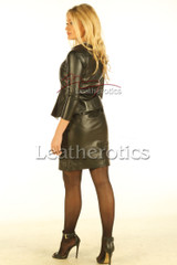 Black Leather Dress custsom made Tb - back