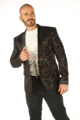 Deluxe Men's Vintage Black Blazer - front