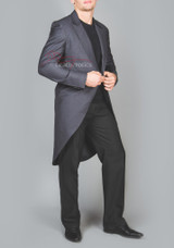 Men's Formal Tailcoat Cotton Vintage Victorian Jacket with Tails Ascot