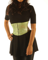 Green Underbust Satin Corset Basque 1827